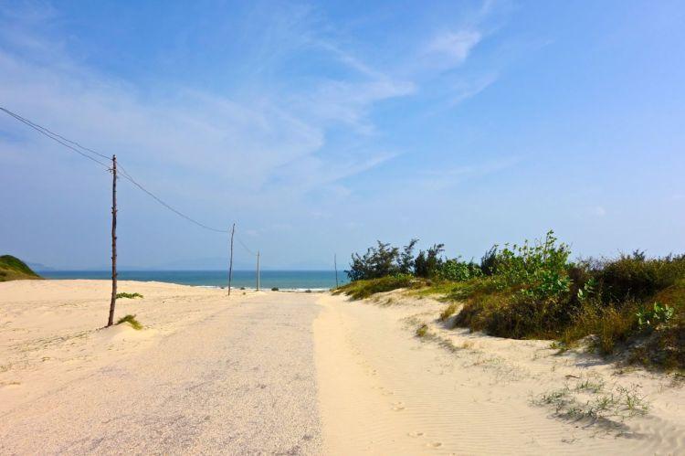 Jobbigt att knappt se vägen för all finkornig sand