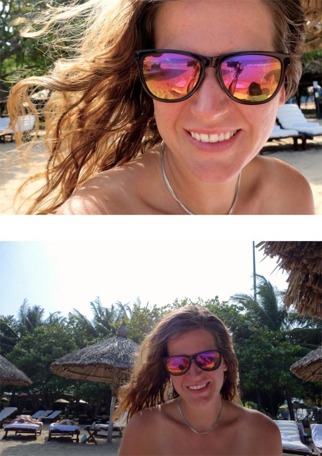 Ovan: selfie. Nedan: ett exempel på en bild jag på uppmaning fått Mattis att ta.