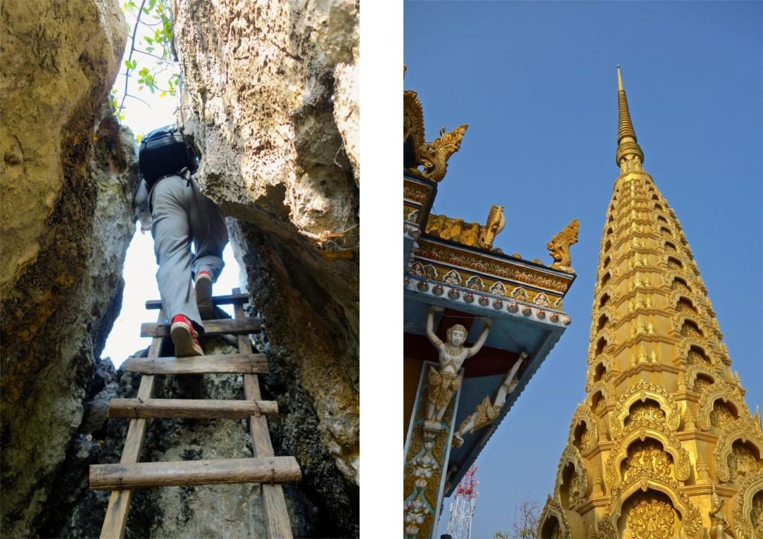 Vad gör en inte för att få se en hockeyröv? Upptäcktsfärder gillar vi och här ingick både klättring och viss krypning vid sidan av templet på toppen.