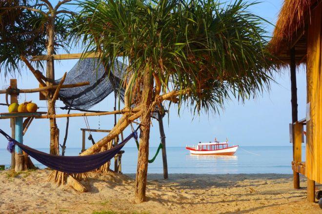 Bungalows på stranden är inte alls särskilt tokigt. Standarden är enkel, men livet är ändå inte särskilt svårt.