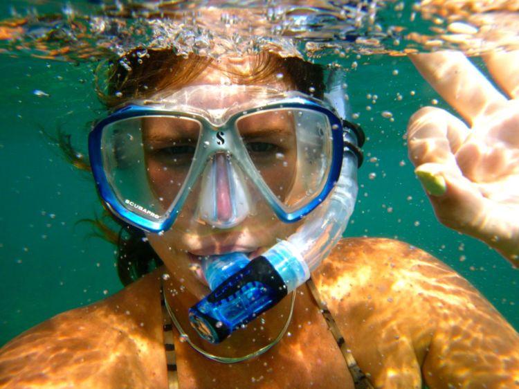 Obligatorisk undervattensselfie!