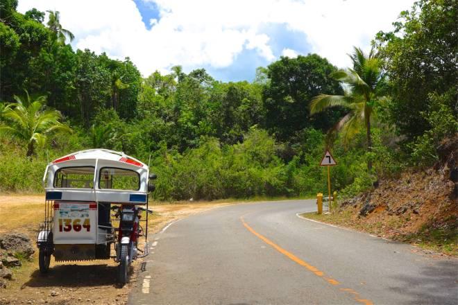 Populäraste fordonet på vägarna i Filippinerna är dessa färgglada trehjulingar. Numrerade plåtlådor på hjul, alltid med ett bibelcitat på baksidan.