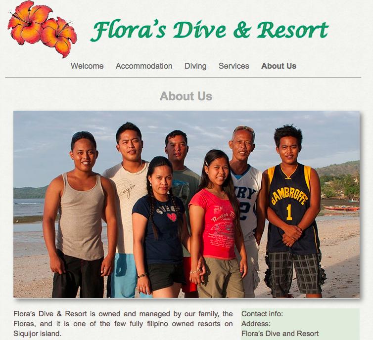 Vi bodde på Flora's, en liten bit utanför Larena längs kusten. Som hemma, fast borta. Fantastisk familj, fina rum och bra dykning! Inte dumt alls... Du hittar mer om Flora's här.