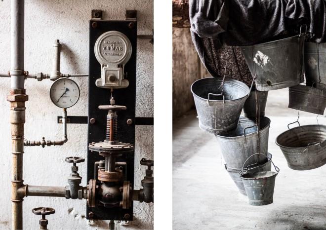 I det gamla pappersbruket är det både gammalt och nytt. Rörigt och konstigt.