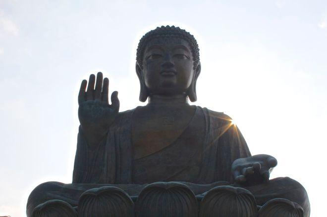 Buddha är alltid lugn.