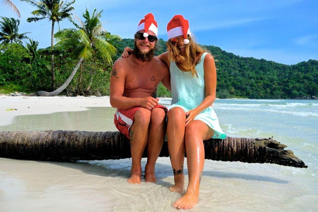 En av våra favoritstränder i Asien, Sao Beach på Phu Quoc. Där firade vi jul 2013 med mojitos och vänner.
