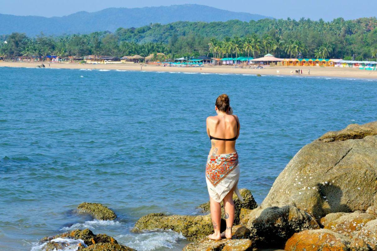 En strand i en annan del av Goa