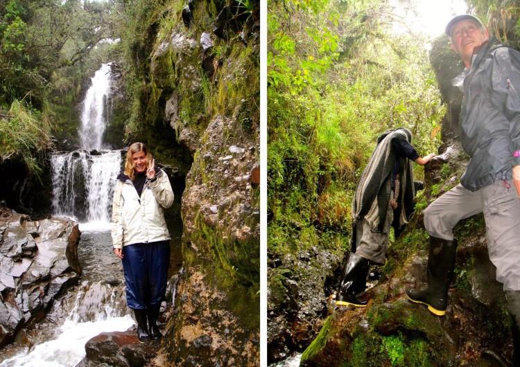 En blöt utflykt till det närliggande vattenfallet. Hade det varit liiite varmare kanske vi hade badat också.